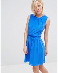 Lavand | Blue Round Neck Skater Dress | Lyst