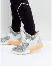 b83f7416d Lyst - adidas Originals Tubular X Primeknit Trainers In Grey By3146 ...