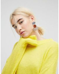 ASOS - Metallic Geo Coloured Mirror Earrings - Lyst