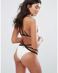 Billabong - White Strappy Bikini Bottom - Lyst