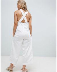 Free People - White Fara Cotton Jumpsuit - Lyst