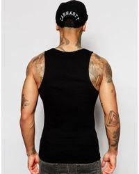 ASOS | Black Rib Vest for Men | Lyst