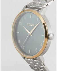 Nixon - Metallic A1090 Arrow Bracelet Watch In Silver for Men - Lyst