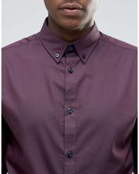 SELECTED | Red Formal Shirt With Button Down Collar for Men | Lyst