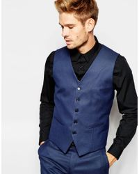 SELECTED | Blue Elected Homme Pindot Waistcoat In Skinny Fit for Men | Lyst