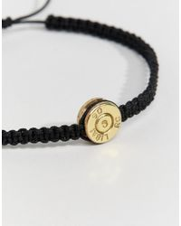 Love Bullets - Metallic Lovebullets Bond Woven Bracelet In Black for Men - Lyst