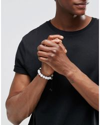 Love Bullets - Metallic Lovebullets Snowflake Tube Beaded Bracelet In Semi Precious Stone for Men - Lyst