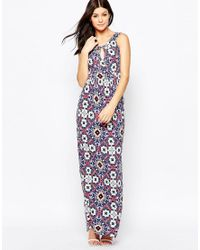 French Connection | Blue Electric Mosaic Jersey Maxi | Lyst
