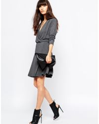 SELECTED - Gray Milla Longsleeve Dress - Lyst
