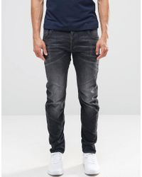 G-Star RAW | Blue Arc 3d Slim Jeans In Washed Grey for Men | Lyst