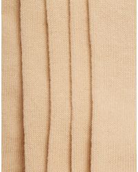 ASOS - Natural 5 Pack Invisible Socks In Nude Save for Men - Lyst
