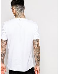 Pretty Green - White T-shirt With Pg Logo for Men - Lyst
