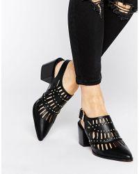 ASOS | Black Ocean Pointed Heels | Lyst
