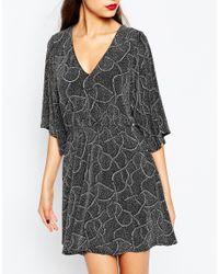 ASOS | Multicolor Tall Night Glitter Plunge Kimono Dress | Lyst