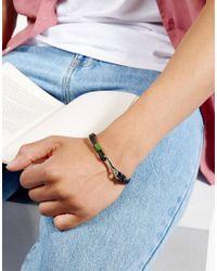 Ted Baker - Double Strand Leather Bracelet In Green for Men - Lyst