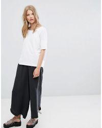 Weekday - White Drop Shoulder Boxy T-shirt - Lyst