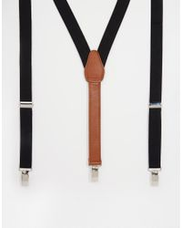 ASOS | Braces In Black With Vintage Tan Finish for Men | Lyst