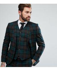 Heart & Dagger - Green Slim Suit Jacket In Tartan for Men - Lyst