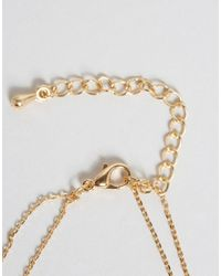 ASOS - Metallic Simple Bar Hand Harness - Gold - Lyst