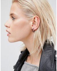 ASOS - Multicolor Grunge Hoop & Stud Earring Pack - Lyst