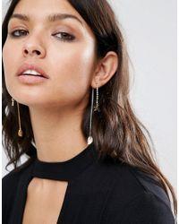 ASOS - Black Nature Strand Earrings - Lyst
