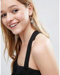 ASOS - Multicolor Heart Swing Earrings - Lyst