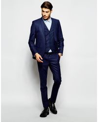 Noak - Blue Suit Jacket In Super Skinny Fit for Men - Lyst