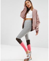 ASOS - Multicolor Mesh Insert Colour Block Leggings - Lyst