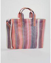 ASOS DESIGN - Multicolor Asos Pattern Mesh Shopper Bag - Lyst