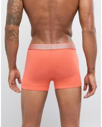 Calvin Klein - Trunks In Orange for Men - Lyst