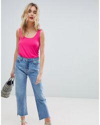 Warehouse Pink Viscose Scoop Neck Vest