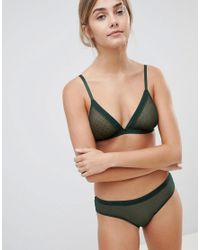 Weekday - Mesh Spot Brief In Dark Green - Lyst