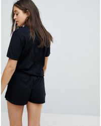 Adolescent Clothing - Black Not Today Short Pajama Set - Lyst
