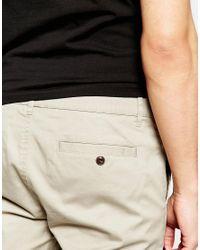 ASOS - Green Skinny Chino Shorts In Light Stone for Men - Lyst