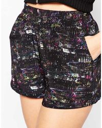 Oh My Love - Multicolor H My Love Shorts In City Lights Print - Lyst