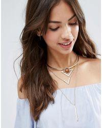 Ashiana - Gray Shiana Necklace With Tassel - Lyst