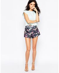 Oh My Love - Black H My Love Scuba Shorts In Life Print - Lyst