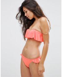 ASOS | Multicolor Moulded Frill Bandeau Bikini Top | Lyst