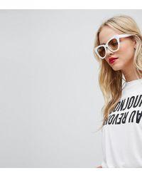 37e3179574db9 Whistles Bonjour Au Revoir T-shirt in White - Lyst