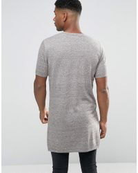 ASOS - Green Extreme Longline Knitted T-shirt With Side Splits for Men - Lyst