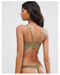ASOS - Green Fuller Bust Becca Lace Moulded Underwire Bra - Lyst