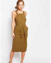 C/meo Collective Natural Khaki Utility Dress