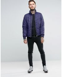 DIESEL - Blue W-generic Quilted Jacket for Men - Lyst