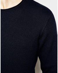 Jack & Jones | Black Knitted Jumper In Mixed Yarns for Men | Lyst