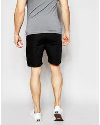 Junk De Luxe - Black Structure Shorts for Men - Lyst