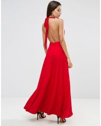 ASOS | Red Open Back Maxi Dress | Lyst