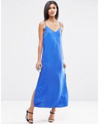 ASOS | Blue Cami Maxi Dress | Lyst