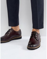 Original Penguin - Red Toe Cap Derby Shoes In Bordo for Men - Lyst