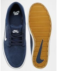 Nike - Blue Portmore Trainers 725027-413 for Men - Lyst