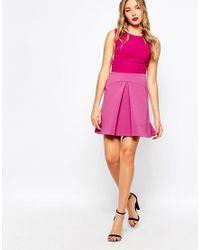 Closet | Pink Closet Dress With Pleat A Line Skirt | Lyst